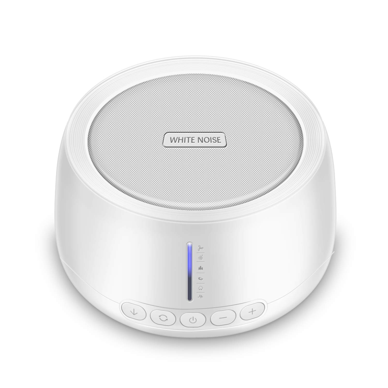 White Noise Machine - MOICO Portable Sound Machines for Sleeping for Baby/Kids/Adults with 30 Unique HiFi Sounds, Headphone Jack for Private Listening, Auto-Off Timer, Adjustable Volume, USB Powered