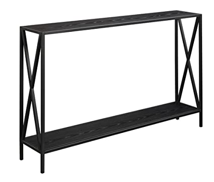 Cool Convenience Concepts Tucson Console Table Black Machost Co Dining Chair Design Ideas Machostcouk