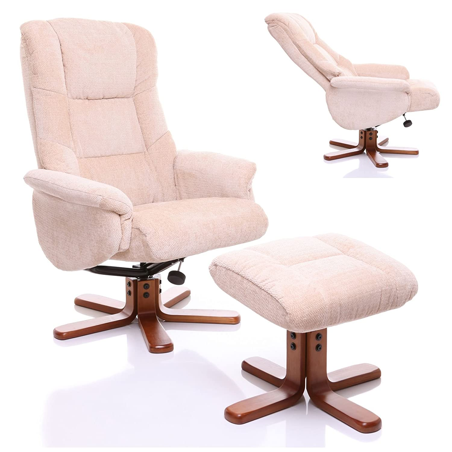 The Shangri-La - Chenille Fabric Swivel Recliner chair in Beige Amazon.co.uk Kitchen u0026 Home  sc 1 st  Amazon UK & The Shangri-La - Chenille Fabric Swivel Recliner chair in Beige ... islam-shia.org