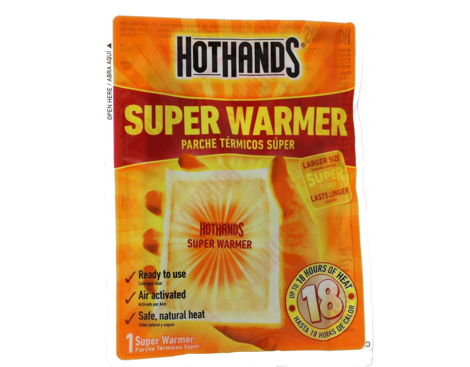 HotHands Body & Hand Super Warmer New Mega Size Pack by Heat Max Heatmax Hot Hands HotHands