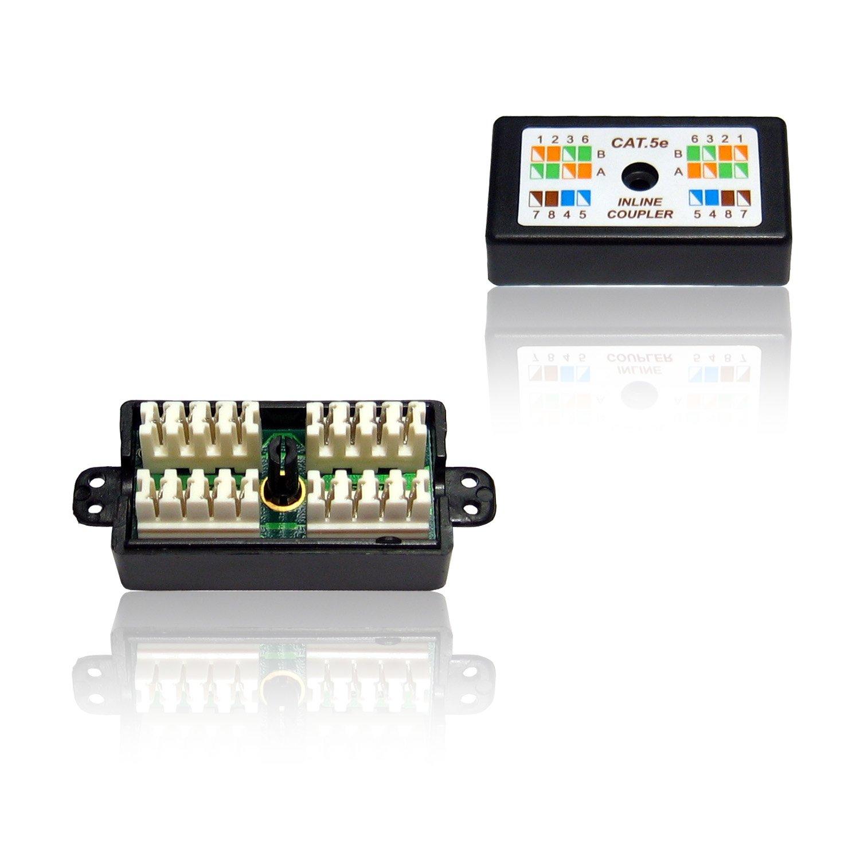 CDL Micro CAT 5E Punchdown//Krone Type Coupler//Joiner Black