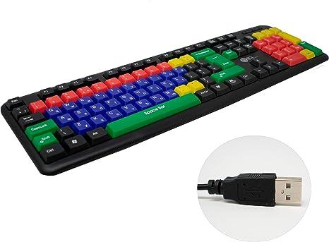 I-CHOOSE LIMITED Teclado de Computadora Colorido para Niños con Teclas Mayúsculas y Minúsculas