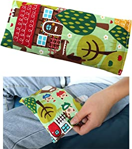Heating Pads Microwave, Heat Pack Wrap Hot Cold Compress, Natural Therapeutic Pain Relief Relaxation Heat Therapy for Neck, Shoulder 【Flaxseed and Gardenia】 (9×4inch, Garden)