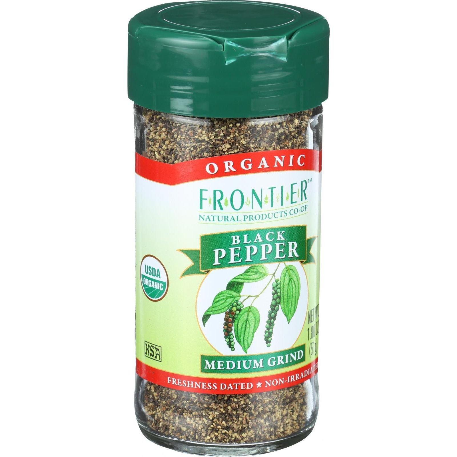 Black Pepper Medium Grind Organic - 1.8 oz