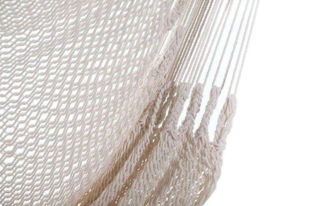 Handmade Hanging Rope Hammock Chair – 100 Handmade With Organic Cotton Swing Seat – Socially Positive White