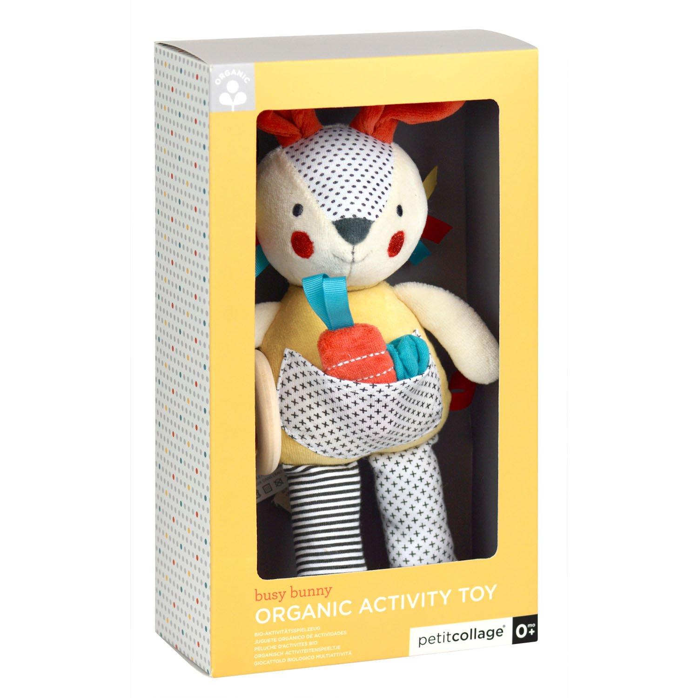 Amazon.com: Petit Collage Organic Baby Developmental Soft Toy, Bunny: Baby