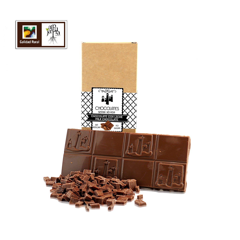 Chocolate con leche artesano sin azúcar: Amazon.es: Alimentación y bebidas