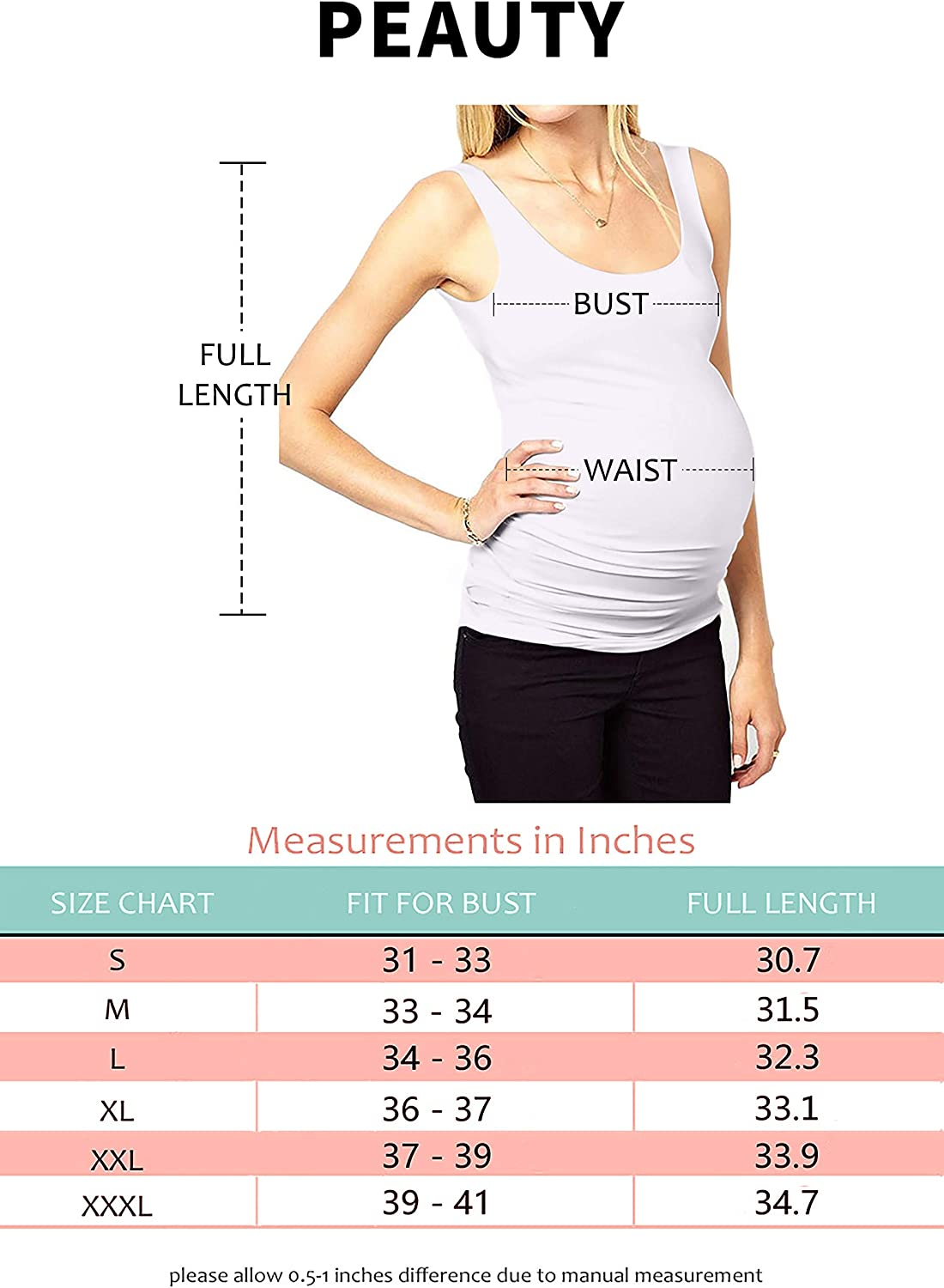 Peauty Maternity Tank Tops Plus Sizes Regular Sleeveless Ruched Clothes