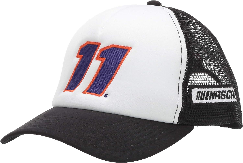 Dark Grey//White Ouray Sportswear NASCAR Joe Gibbs Racing Denny Hamlin Youth Sideline Mesh Cap Adjustable
