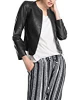 ESPRIT Collection Damen Lederjacke Hochwertiges Echtleder 034EO1G006