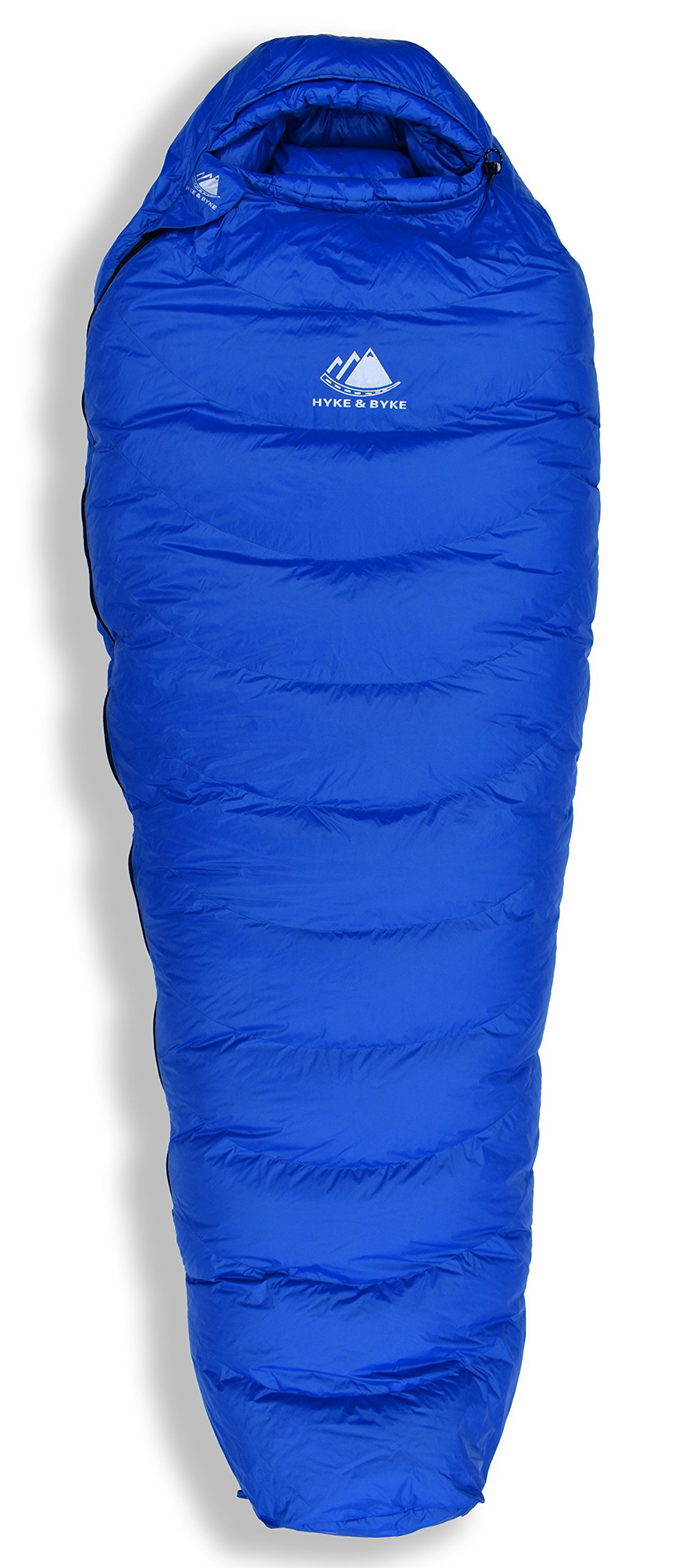 Hyke & Byke Quandary 15 Degree F 650 Fill Power Hydrophobic Down Sleeping Bag with ClusterLoft Base - Ultra Lightweight 3 Season Men's and Women's Mummy Bag Designed for Backpacking 5