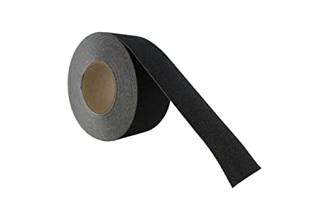 Superior ABN Adhesive Black Non Slip Stair Tread Safety Tape Strip, 60 Grit, 3