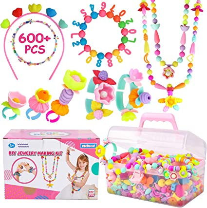 DIY Kids/' Jewelry Making Kits For Necklace For Girls Art Crafts Xmas Gift Toys