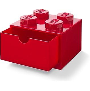 """Lego Duplo Item Shelf//Cabinet 2x2x4.5/"""" Red"""