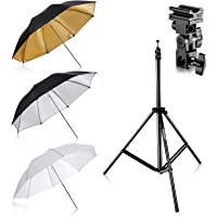 Deals on Neewer 10086758 Flash Mount Three Umbrellas Kit