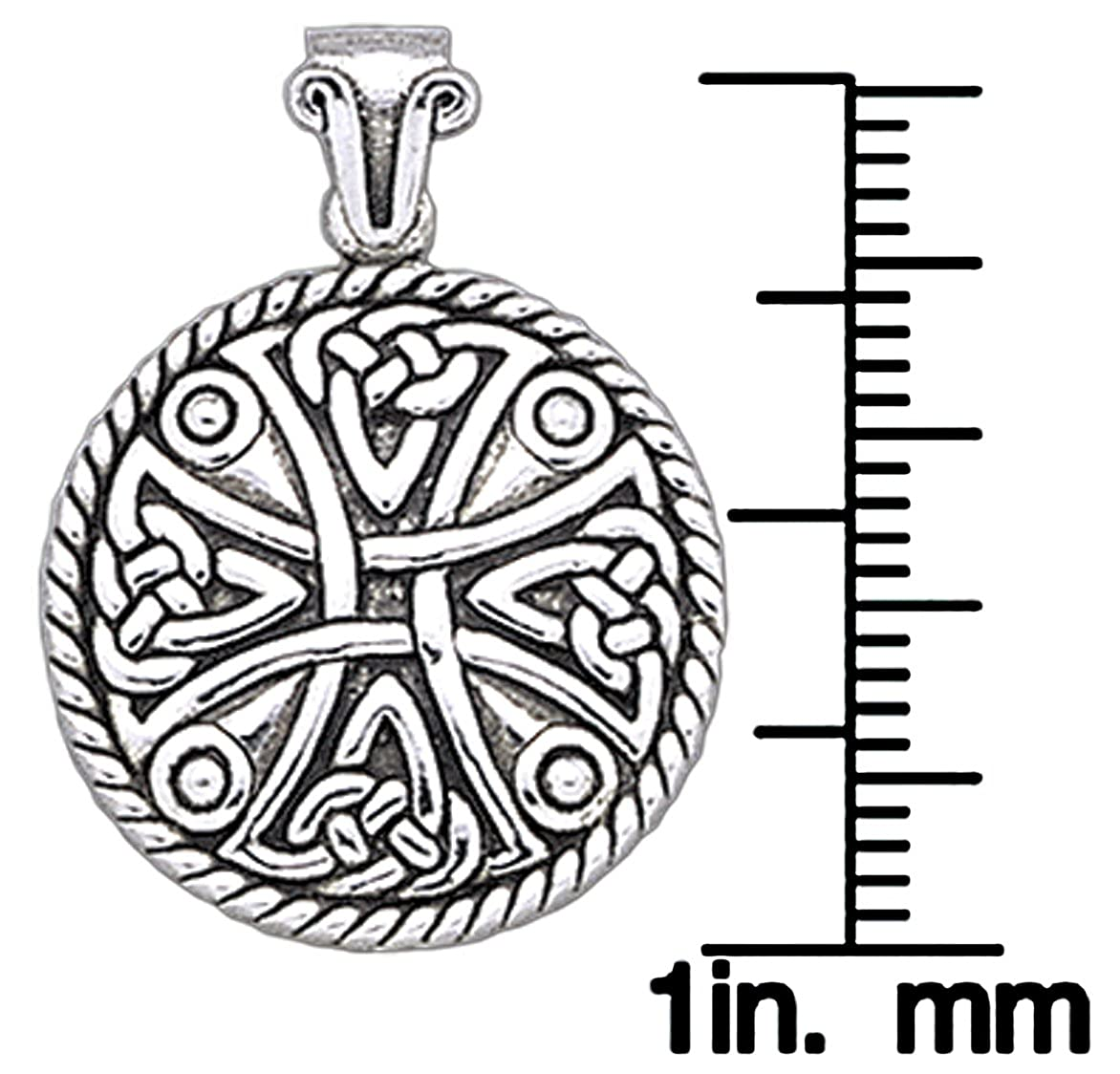 Jewelry Trends Sterling Silver Celtic Cross Pendant Necklace 18