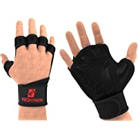 ProFitness Cross Training Gloves with Wrist Support Non-Slip Palm Silicone Padding to Avoid Calluses | for Weight…