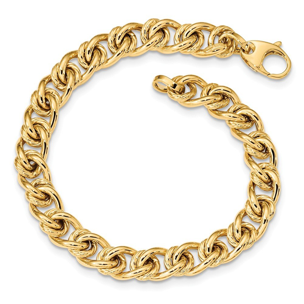 Roy Rose Jewelry 14K Yellow Gold Fancy Link Bracelet ~ length: 7.75 inches