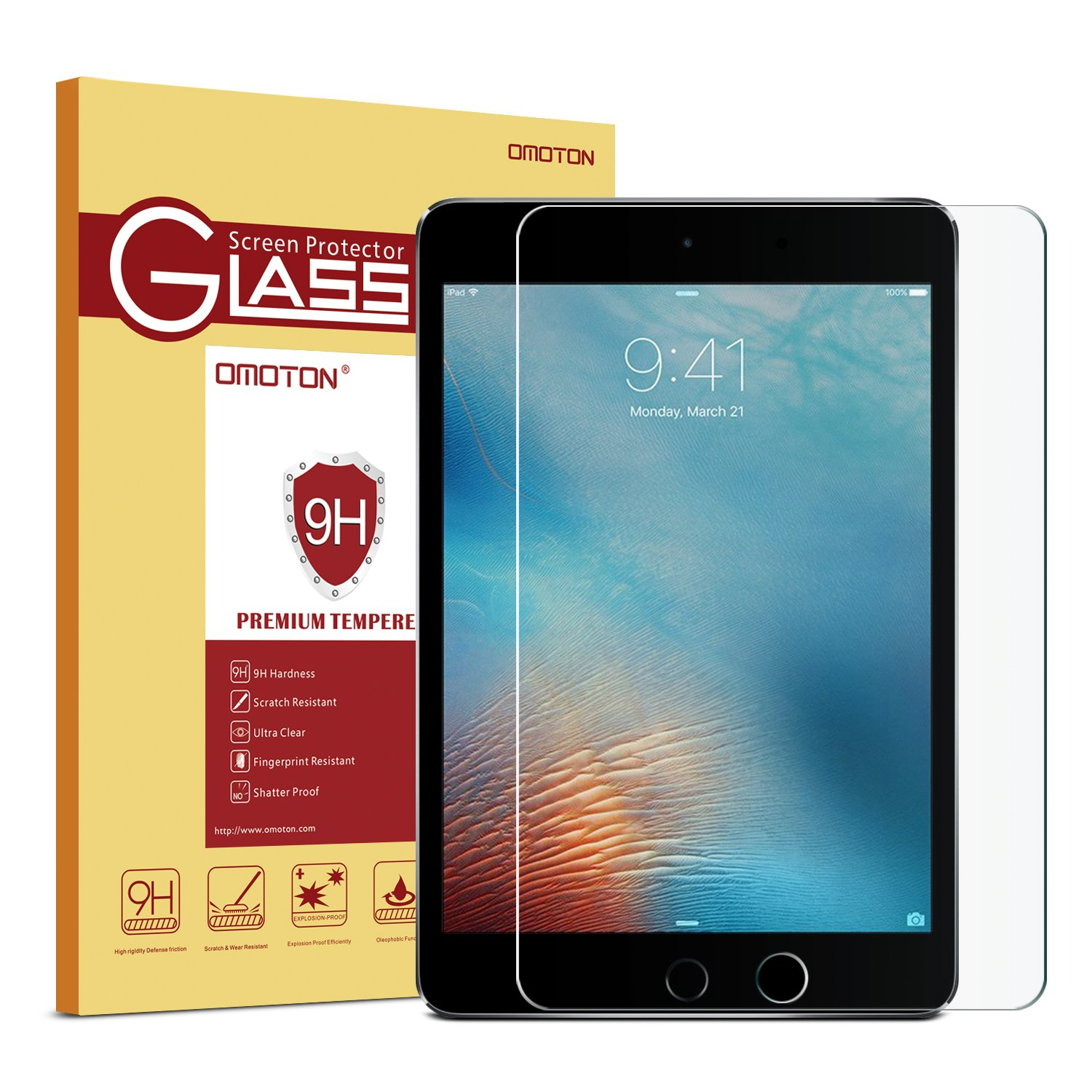 Omoton Ultra Clear 9h Hardness Tempered Glass Screen 41 Basic Electronics Symbols Electrical And Electronic Free Protector For New Ipad 2018 2017 97 Pro Inch Air 2