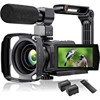 4K Video Camera Camcorder YouTube Vlogging Camera 48MP UHD WiFi IR Night Vision Camcorder 3'' 270°Rotation Touch Screen…