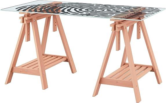 Zigzag Trading Ltd IKEA GLASHOLM/FINNVARD - / Huella Digital Tabla Modelo de Cristal de Haya: Amazon.es: Hogar