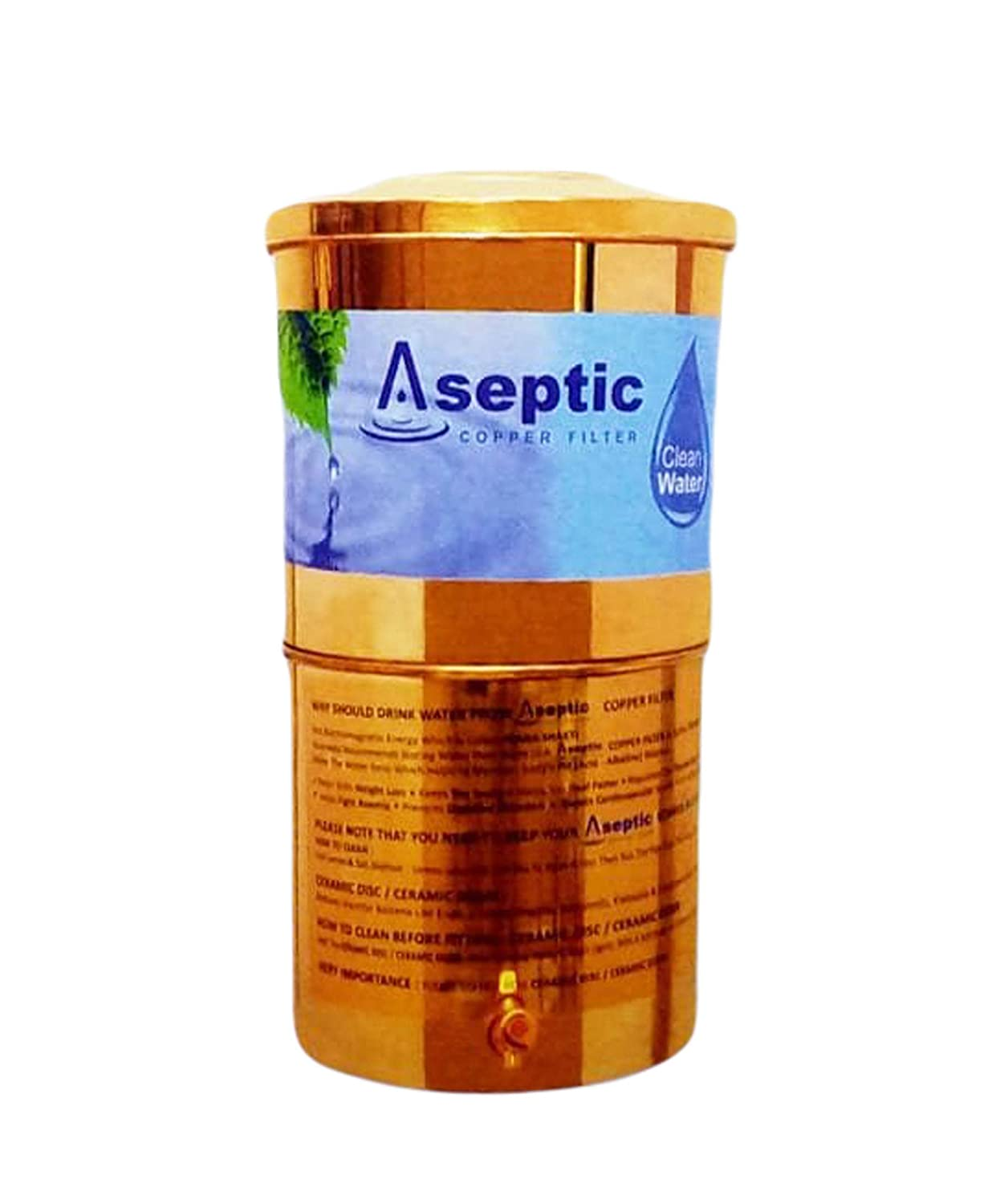 Aseptic Ltr Copper Water Filter 36 Liters Amazon In Home Kitchen
