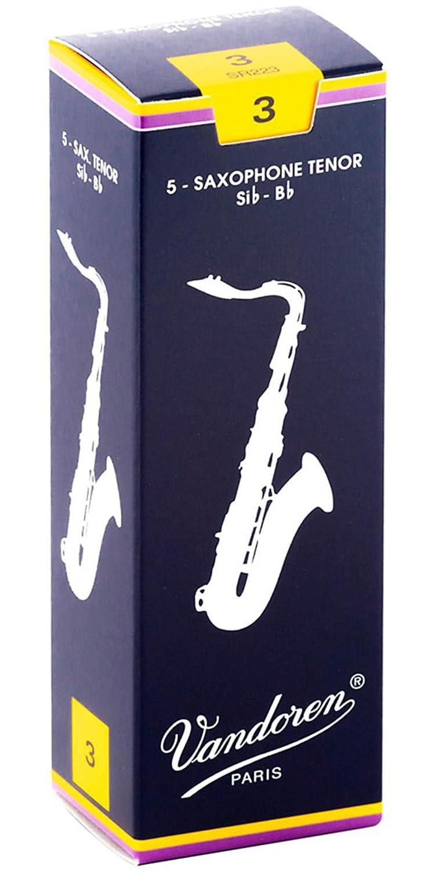 VANDOREN SR223 Boite de 5 anches Vandoren Traditionnelles pour Saxophone Tenor Force 3,
