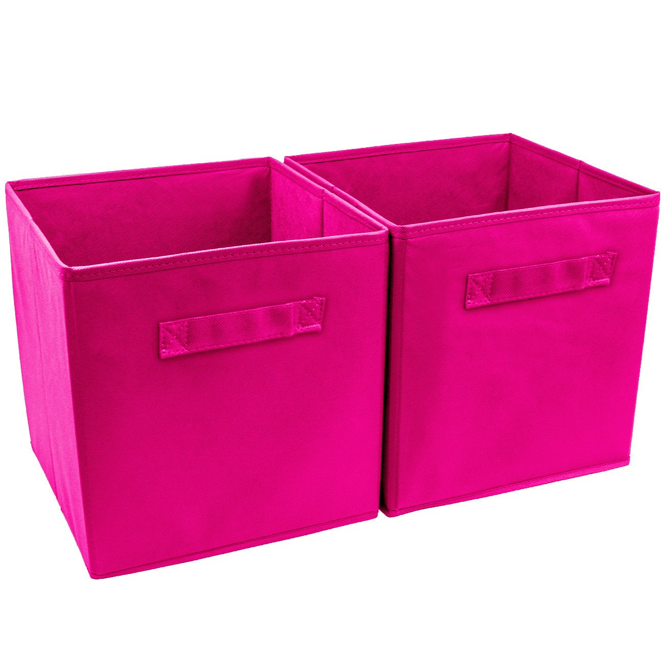 Wtape Practical Foldable Cube Storage Bins, 2-Pack Fabric Drawers, Blue