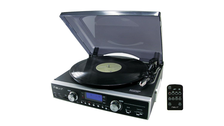 Nevir NVR-800 VMUC - Giradiscos (FM, MP3, MMC, USB, SD): Amazon.es ...