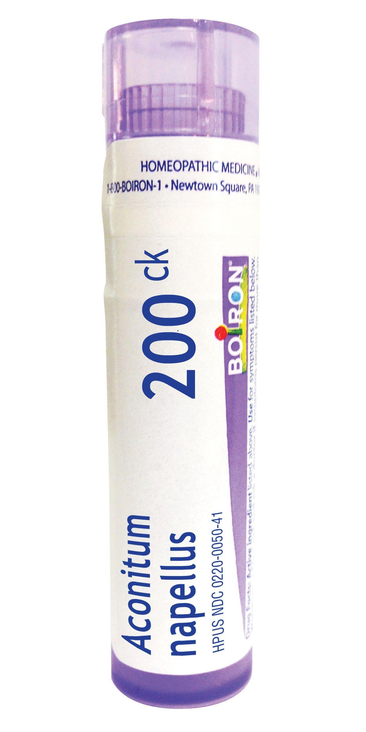 Boiron Aconitum Napellus 200C, 80 Pellets, Homeopathic Medicine for Fever