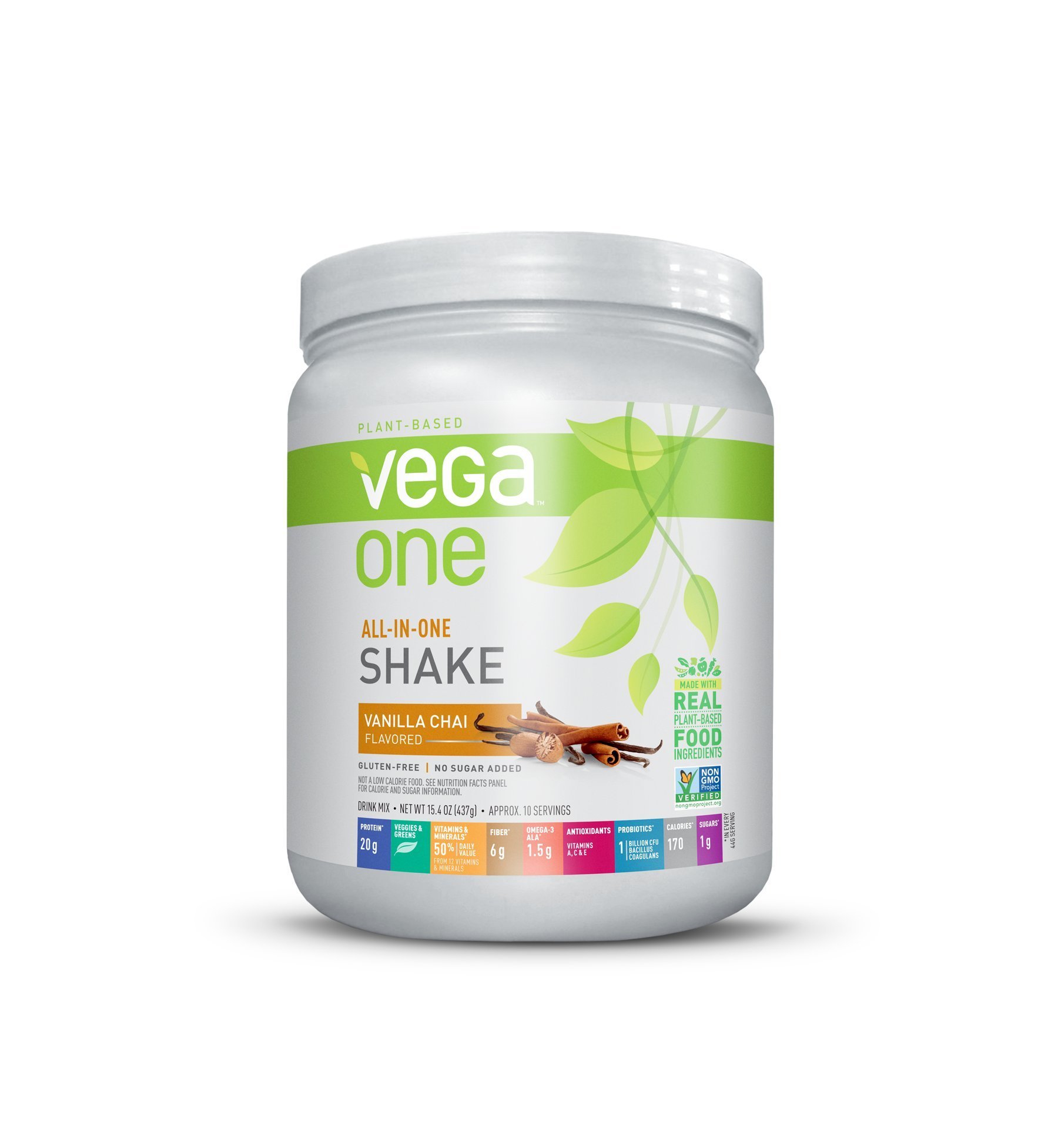 Vega One All-In-One Plant Based Protein Powder, Vanilla Chai, 0.96 lb, 10 Servings