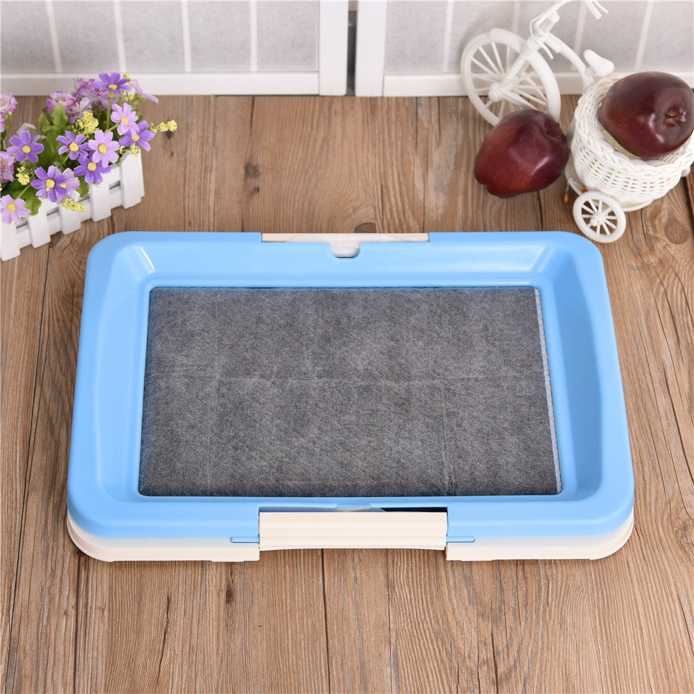 awtang Pet Training Toilet Small Sized Dog training Tray for Pets' Defecation Puppy Dog Potty Training Pad Blue by awtang (Image #8)