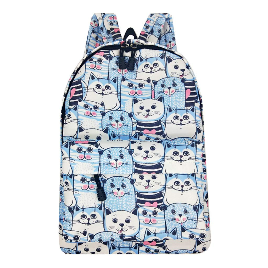 Lightweight Schoolbag Cute Printed Shoulder Bag Large Capacity Backpack Casual Travel Bag for Girls By Lmtime(C Multicolor)