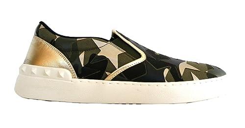 Valentino Garavani Mocasines para Hombre Verde Mimetico Verde + Oro: Amazon.es: Zapatos y complementos