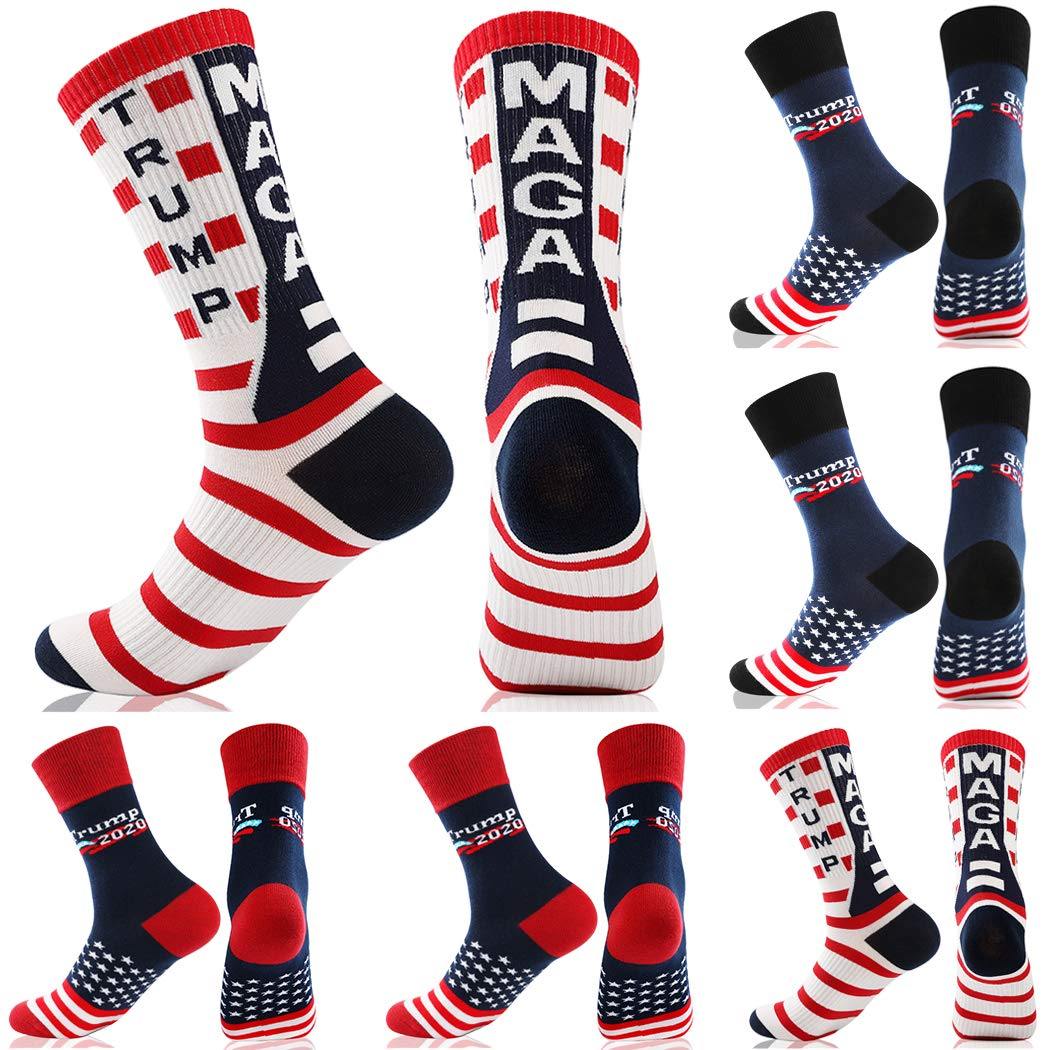 President Donald Trump Gifts MAGA 2020 Socks with Comb for Men and Women Trump Socks with Hair
