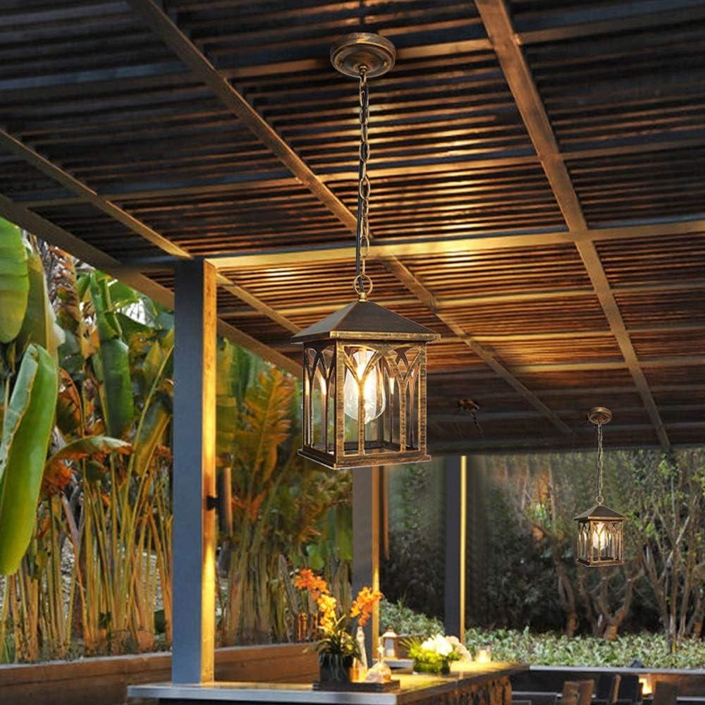 Lámparas LED para exterior, American Lámpara colgante creativa Lámpara de techo hueco de aluminio Sala de estar vintage Mesa de comedor Balcón Lámpara de techo Dormitorio creativo Estudio Pasillo Luz: Amazon.es: Hogar