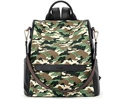 CLUCI Women Backpack Purse Fashion Leather Large Designer Travel Bag Ladies Shoulder Bags