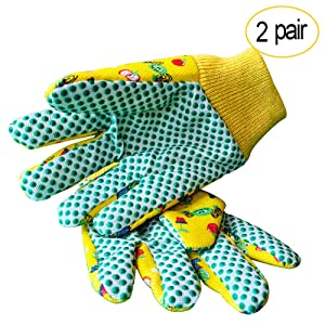 Kids Garden Gloves - PROMEDIX - 3-6 Years Old Children Gardening Gloves, 2- Pair Pack
