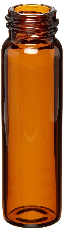 Pack of 200 Amber Kimble Chase KIM-60815-1760-PAK without Closure Kimax 60815-1760 Borosilicate Glass Cylindrical 8mL Screw Thread Sample Vial