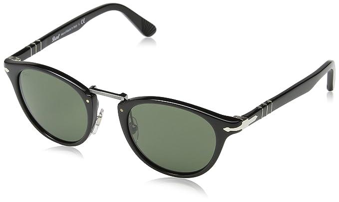 1eac7abd701c Persol Unisex-Adult's Typewriter Edition Sunglasses, Black 95/31, 49 ...