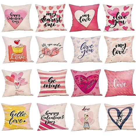 Amazon.com: ❤ 🍒 Happy Valentines Day Throw Pillow ...