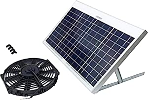 Amtrak Solar's Powerful 40-Watt Solar Attic Fan Quietly Cools and ventilates Your House, Garage or RV and Protects Against Moisture Build-up