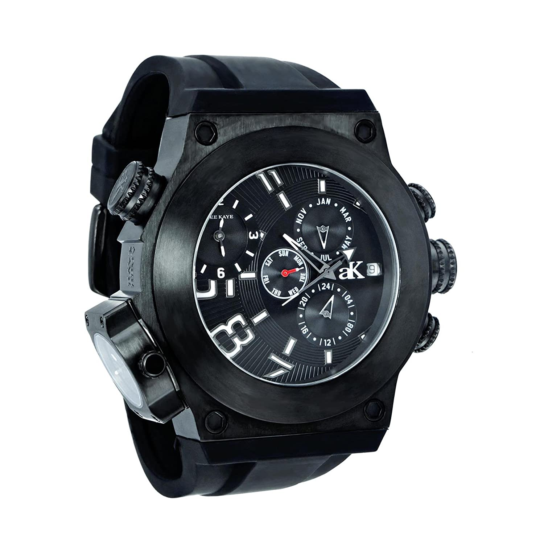 アディーケイ Adee Kaye Men's AK6666-MIPB Bulldozer G-2 Analog Display Swiss Quartz Black Watch 男性 メンズ 腕時計 【並行輸入品】 B00YSJS9Q6