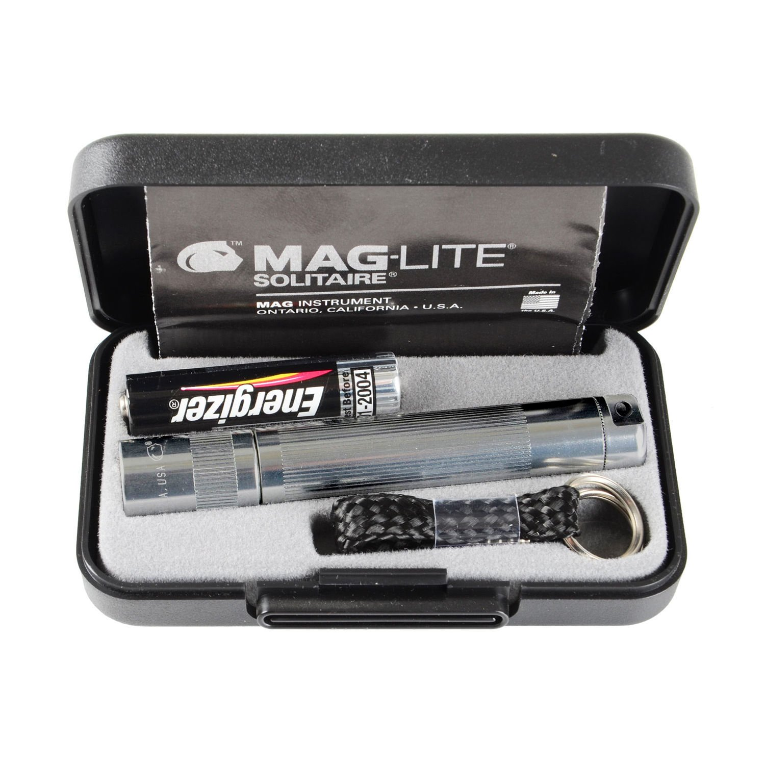 Maglite Boxed Solitaire Torch AAA Grey PIK-A-PAK 5026393500052 Lighting Torches