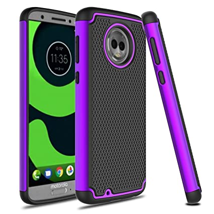 Amazon.com: Moto G6 funda, venoro Slim híbrido de doble capa ...