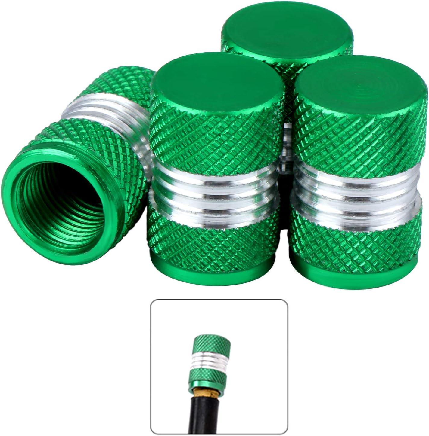 Fippy 40 PCS Tapa de la v/álvula Aleaci/ón de Aluminio anodizado Tapas de la v/álvula del neum/ático del Coche Tapas Antipolvo Estilo