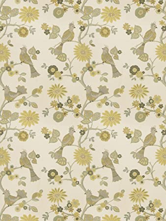 Amazon Com Lemongrass Yellow Lt Green Animal Skins Floral Asian