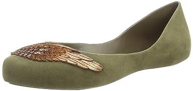 Mel Dreaming Wing, Women's Ballet Flats, Green (Khaki), 4 UK (