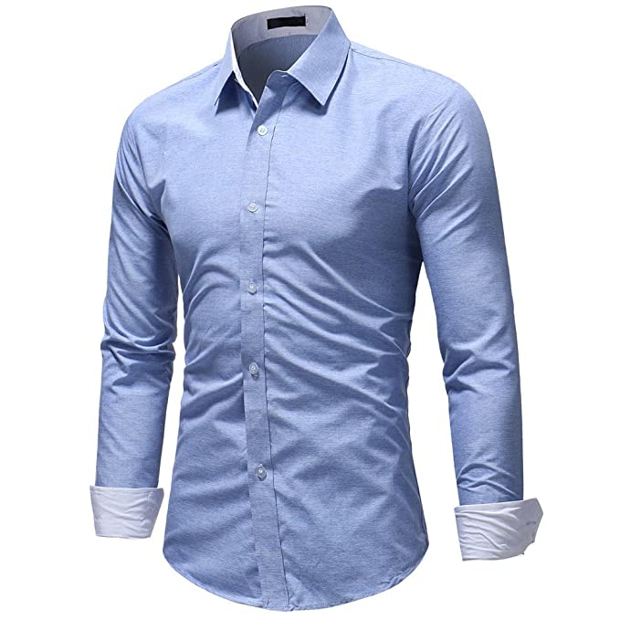 Camisetas Fortnite Hombre Polo Los Camisa de Vestir de Manga Larga de Corte Recto sólido Formal