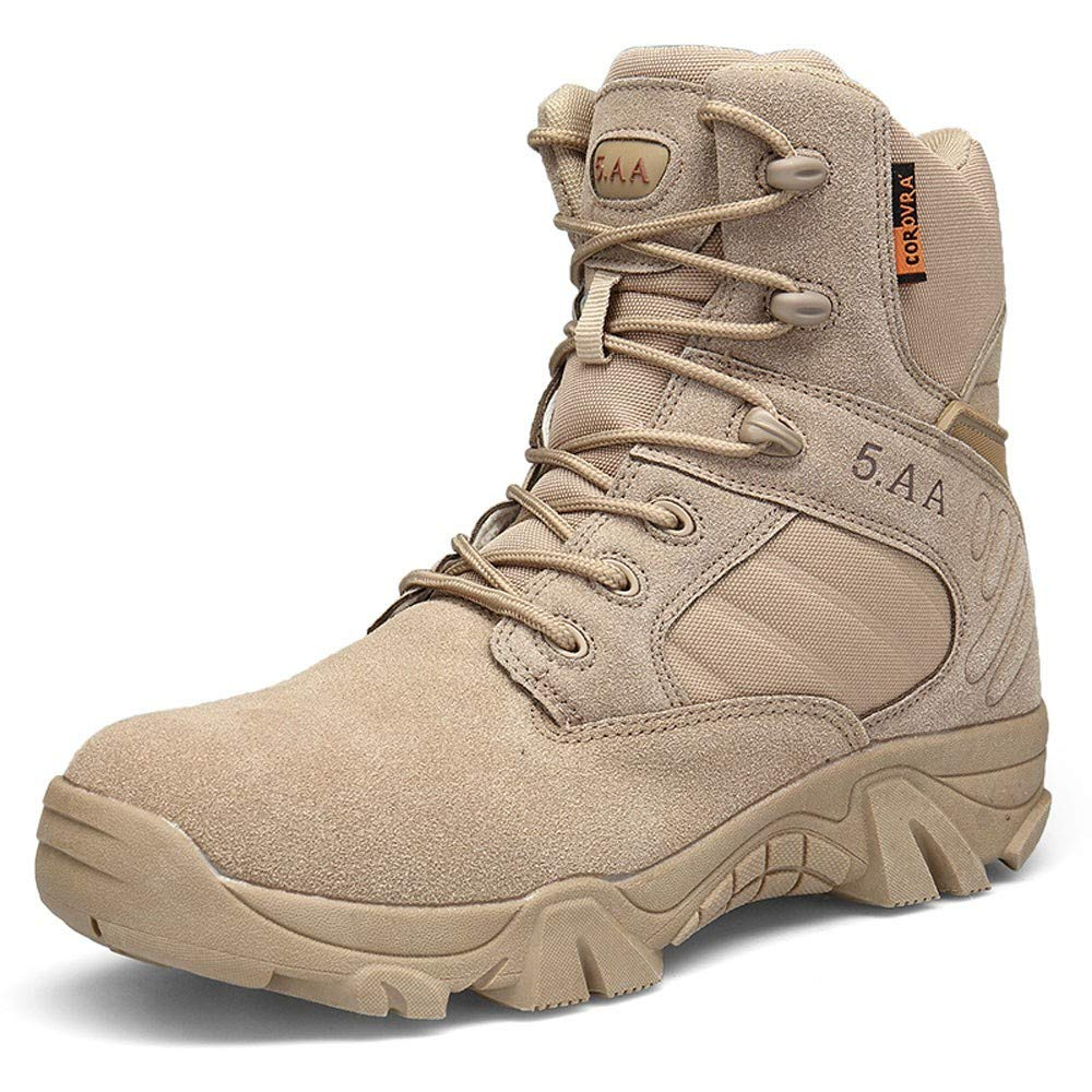 Outdoor Men's Tactical Military Ankle Boots Mitiy Water Resistant Lightweight Hiking Boots Work Safety Boots